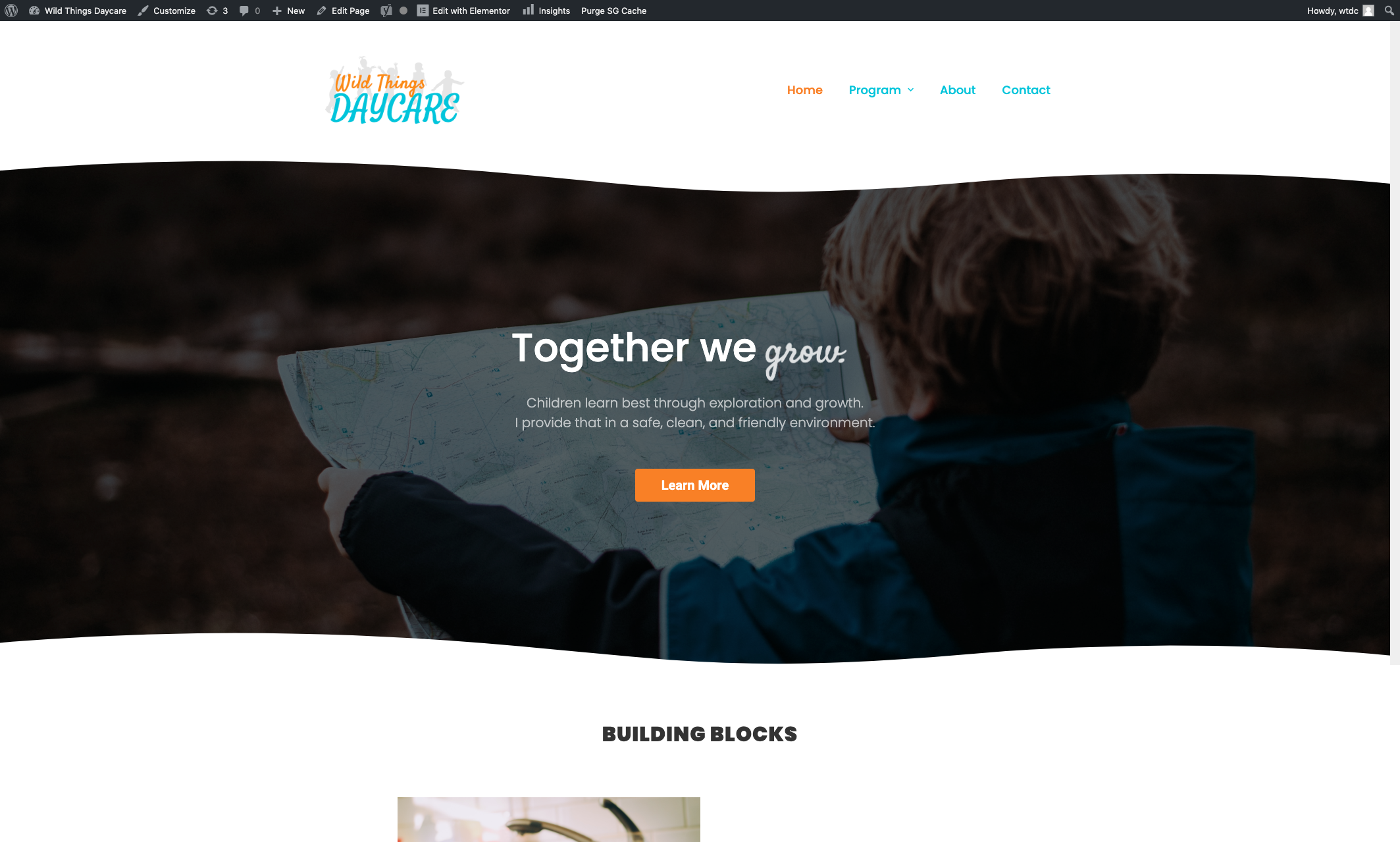 Web Design for Daycare - Small Business Web Design Screenshot